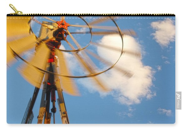 Red Wind Windmill Carry-all Pouch