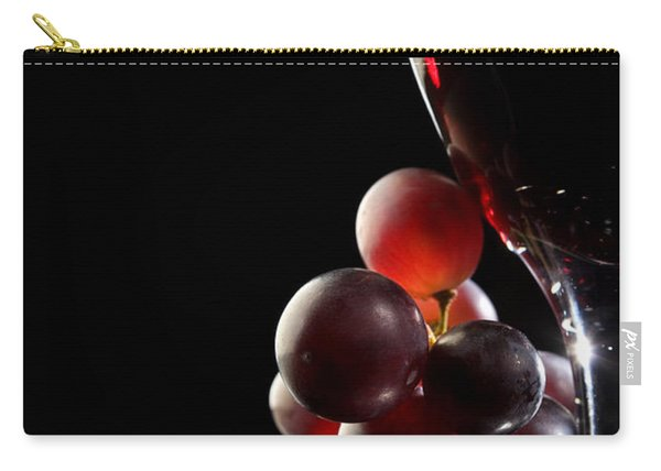 Red Wine With Grapes Carry-all Pouch