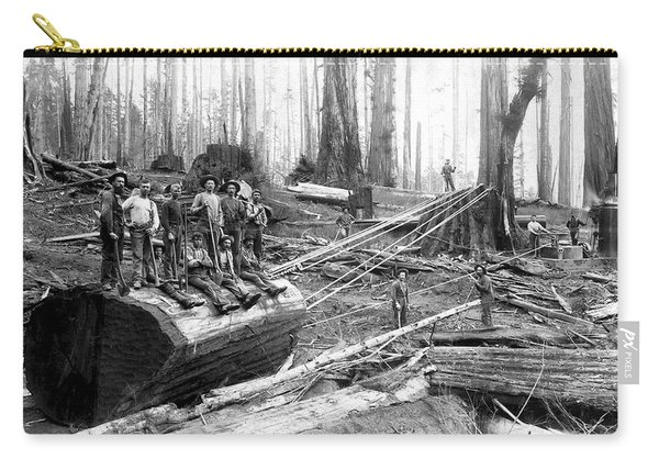 Redwood Logging Crew C. 1890 Carry-all Pouch
