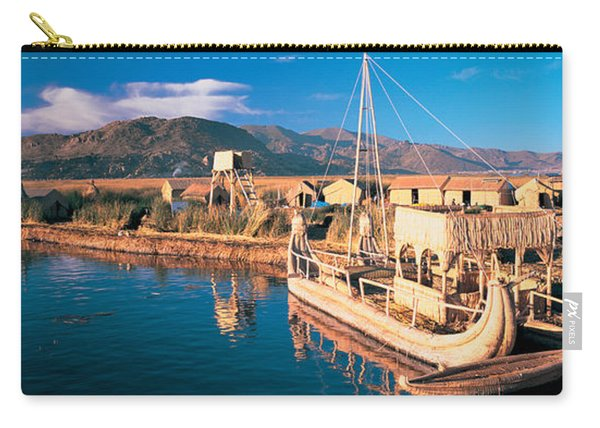 Reed Boats At The Lakeside, Lake Carry-all Pouch