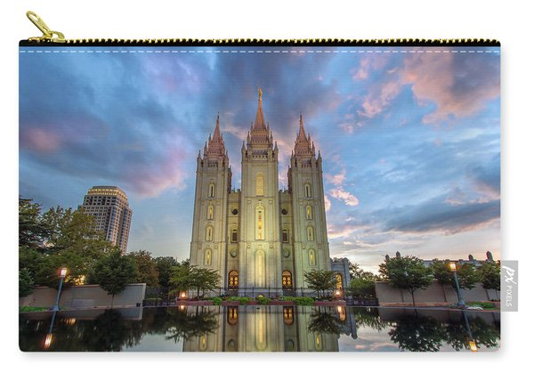 Carry-all Pouch featuring the photograph Reflecting On Faith by Dustin  LeFevre