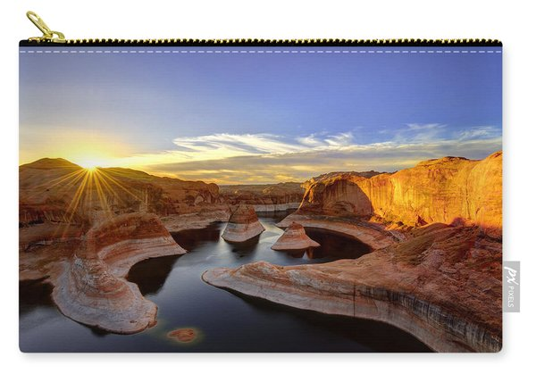 Carry-all Pouch featuring the photograph Reflection Canyon Sunrise by Dustin  LeFevre