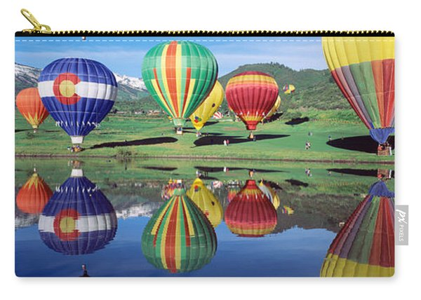 Reflection Of Hot Air Balloons On Carry-all Pouch