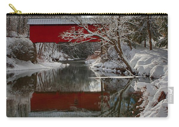 reflection of Slaughterhouse covered bridge Carry-all Pouch