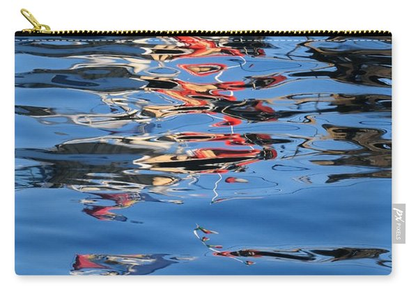 Reflections In Red Carry-all Pouch