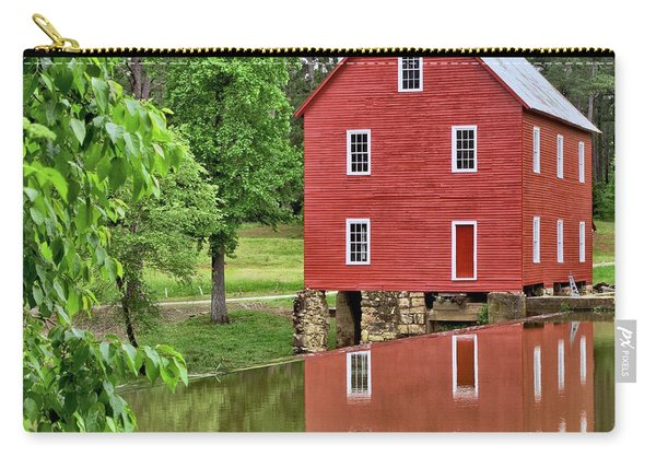 Reflections Of A Retired Grist Mill - Square Carry-all Pouch
