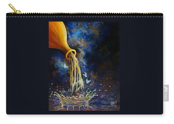 Carry-all Pouch featuring the painting Regeneration by Nancy Cupp