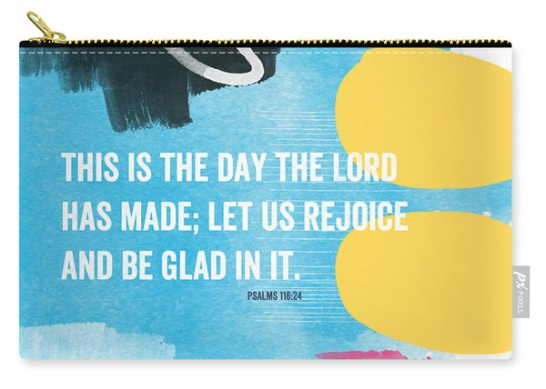 Rejoice And Be Glad- Contemporary Scripture Art Carry-all Pouch