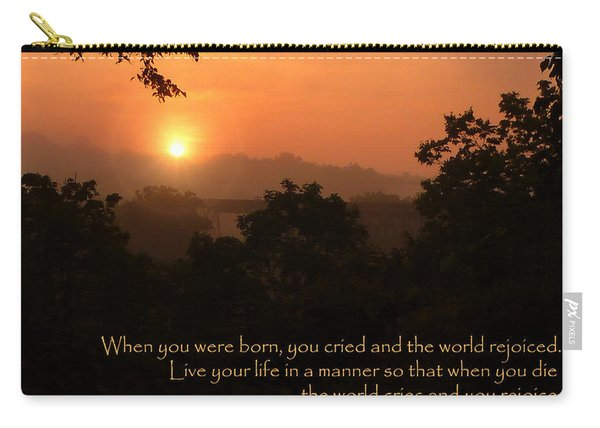 Rejoice - How To Live Your Life Carry-all Pouch
