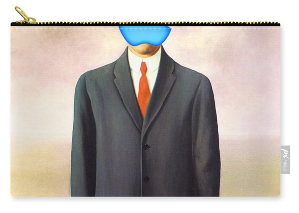 Rene Magritte Son Of Man Apple Computer Logo Carry-all Pouch