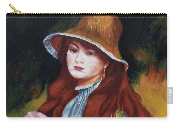 Renoir-young Girl In A Straw Hat Carry-all Pouch