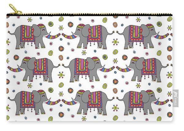 Repeat Print - Indian Elephant Carry-all Pouch