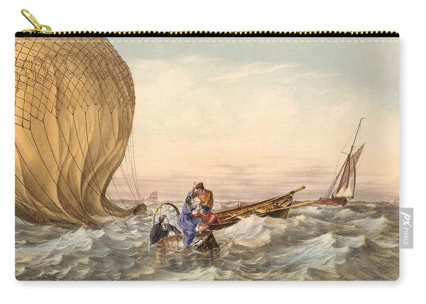 Rescue At Sea Of Downed Balloonists Carry-all Pouch