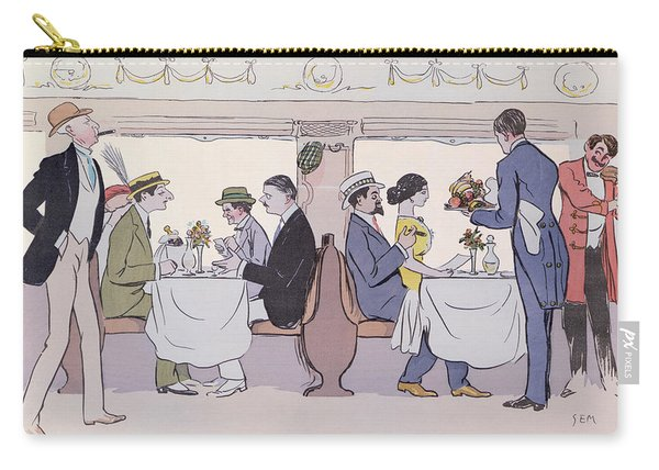 Restaurant Car In The Paris To Nice Train Carry-all Pouch
