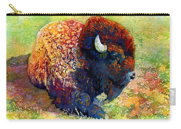 Resting Bison Carry-all Pouch