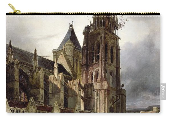 Restoring The Abbey Church Of St. Denis In 1833 Oil On Canvas Carry-all Pouch
