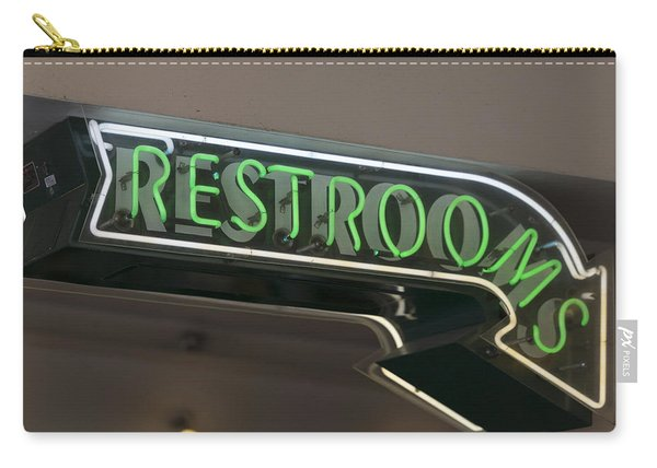 Restrooms In Neon Carry-all Pouch