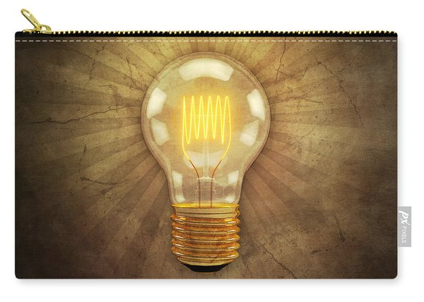 Retro Light Bulb Carry-all Pouch