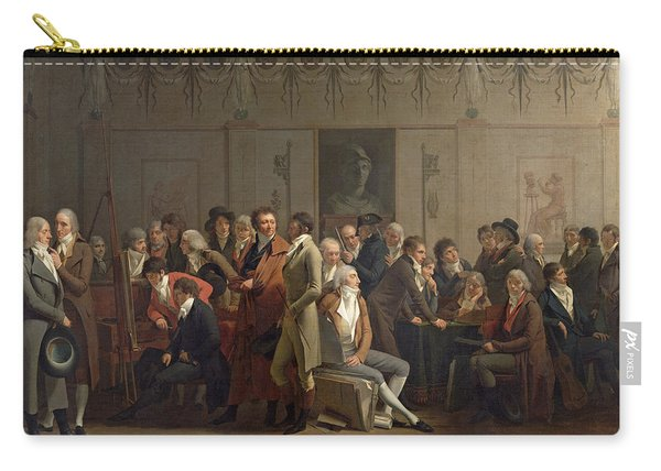 Reunion Of Artists In The Studio Of Isabey, 1798 Oil On Canvas Carry-all Pouch