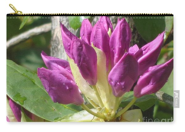 Rhodo Buds N Raindrops Carry-all Pouch