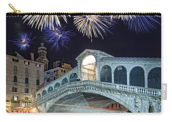 Rialto Bridge Fireworks Carry-all Pouch