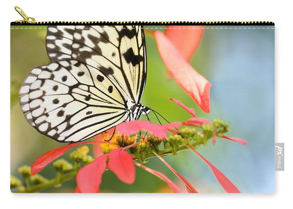 Rice Paper Butterfly In The Garden Carry-all Pouch