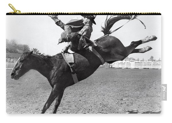 Riding A Bucking Bronco Carry-all Pouch