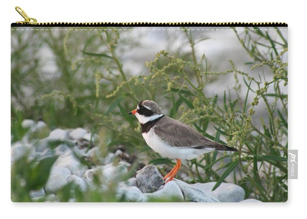Ringed Plover On Rocky Shore Carry-all Pouch