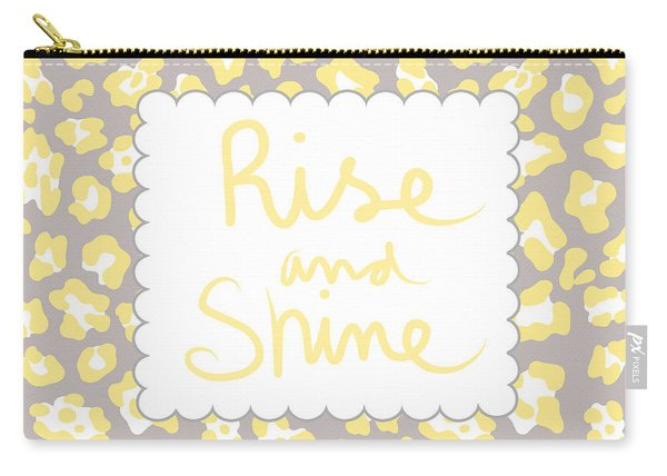 Rise And Shine- Yellow And Grey Carry-all Pouch