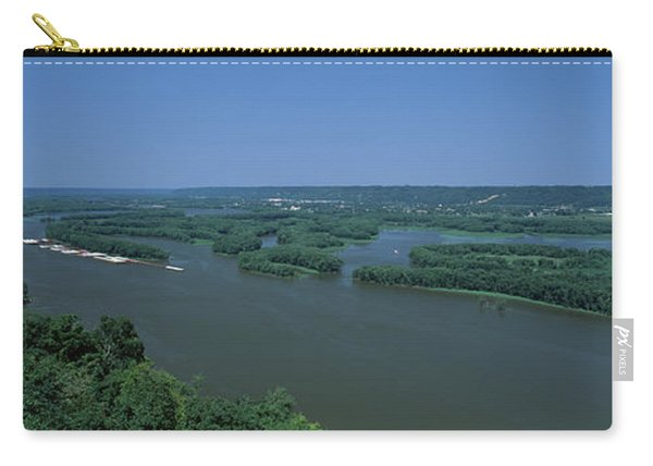 River Flowing Through A Landscape Carry-all Pouch
