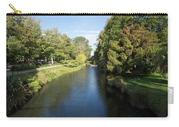 River Flowing Through A Park, Hagley Carry-all Pouch