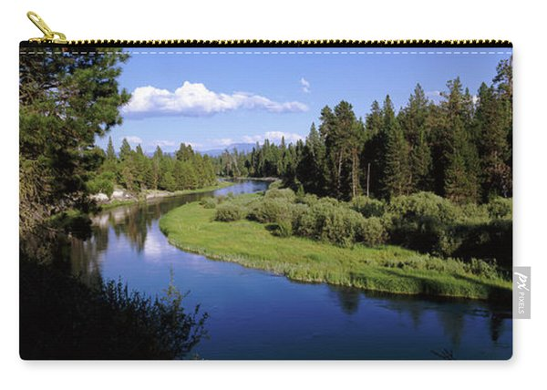 River In A Forest, Don Mcgregor Carry-all Pouch