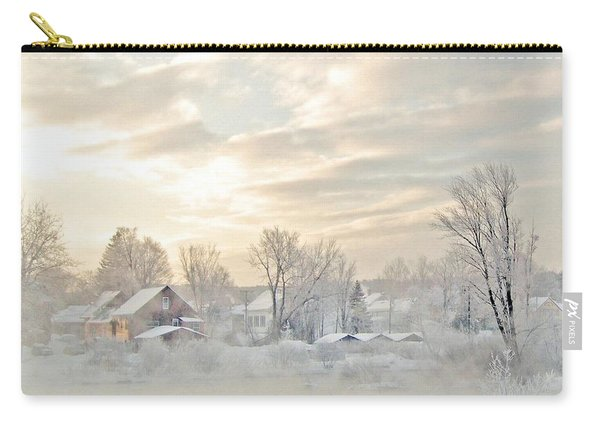 River Mist On A Very Cold New Hampshire Morning Carry-all Pouch