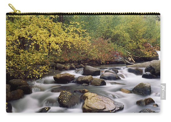 River Passing Through A Forest, Inyo Carry-all Pouch