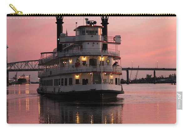 Riverboat At Sunset Carry-all Pouch