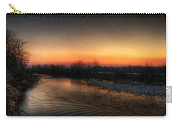 Riverscape At Sunset Carry-all Pouch