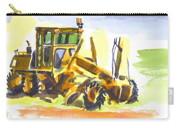 Roadmaster Tractor In Watercolor Carry-all Pouch