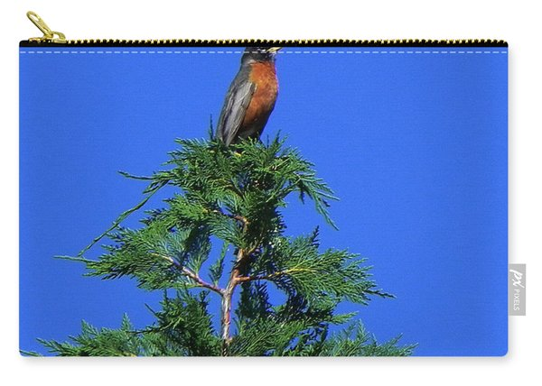 Robin Christmas Tree Topper Carry-all Pouch