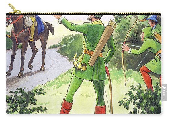 Robin Hood, From Peeps Into The Past Carry-all Pouch