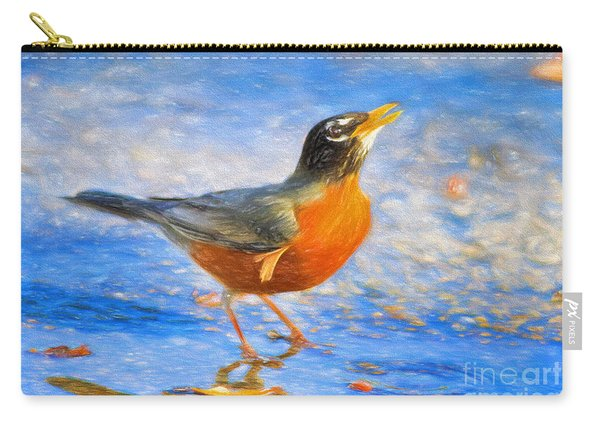Robin In Florida Carry-all Pouch