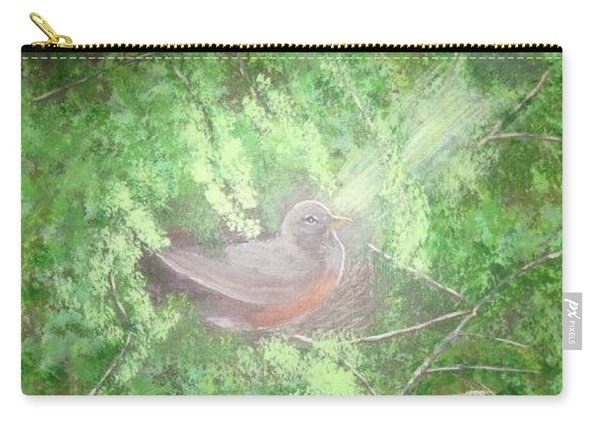 Robin On Her Nest Carry-all Pouch