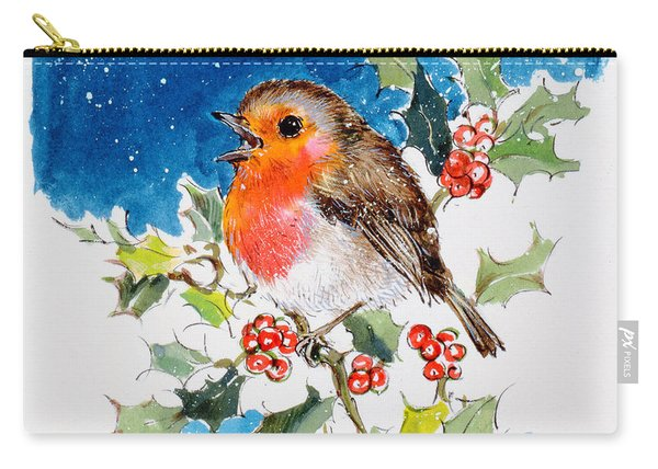 Robin Red-breast Carry-all Pouch