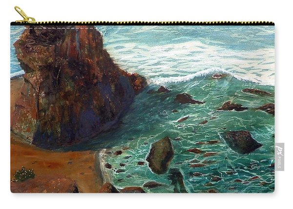Rock Beach And Sea Carry-all Pouch