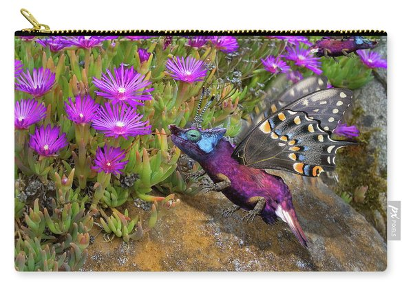 Rock Flower Birguana Fly Carry-all Pouch