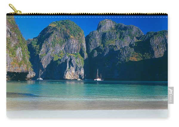 Rock Formations In The Sea, Phi Phi Carry-all Pouch