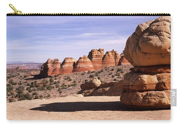 Rock Formations On An Arid Landscape Carry-all Pouch