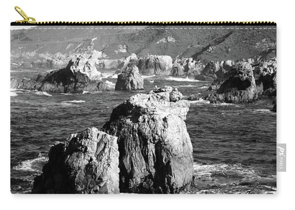 Rock Formations On The Beach, Big Sur Carry-all Pouch