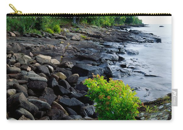 Rocks And Trees Along Lake Superior Carry-all Pouch