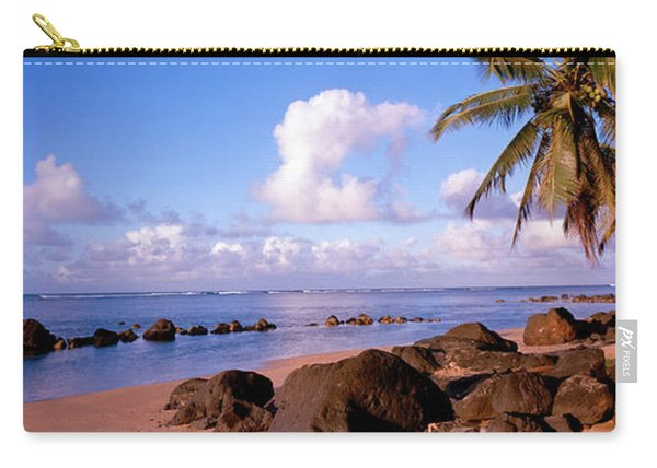Rocks On The Beach, Anini Beach, Kauai Carry-all Pouch