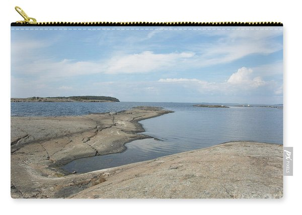 Rocky Coastline In Hamina Carry-all Pouch